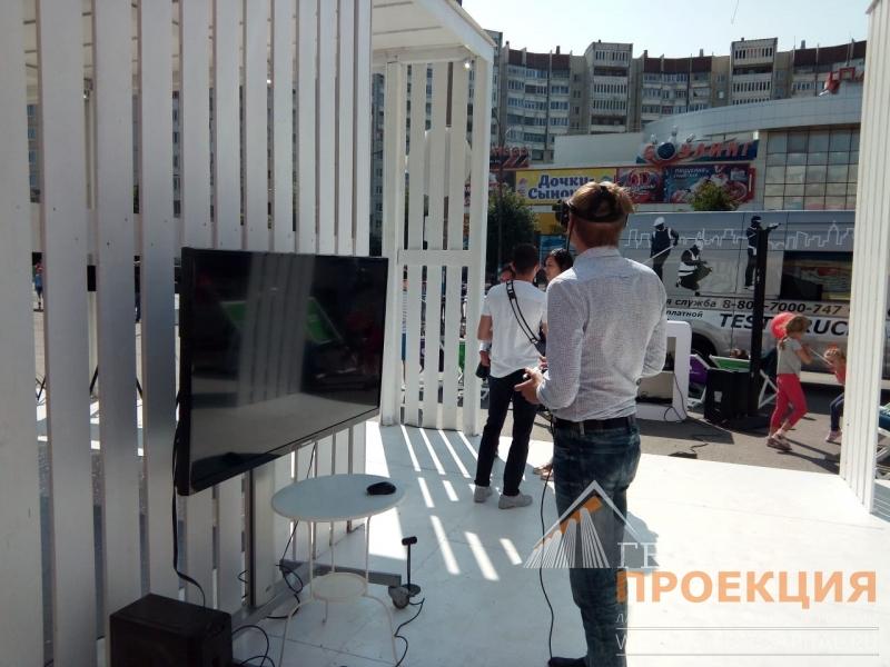 Компания Гефест Проекция совместно с Компанией Мегафон организовала интерактивную зону