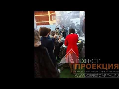 Поздравление мужчин компании Татнефть тематическими блинами с помощью 3d блинницы! Альметьевск.