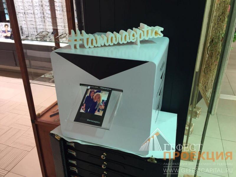 Инстапринтер для мероприятия в салоне оптики ТАМАРА г. Новосибирск